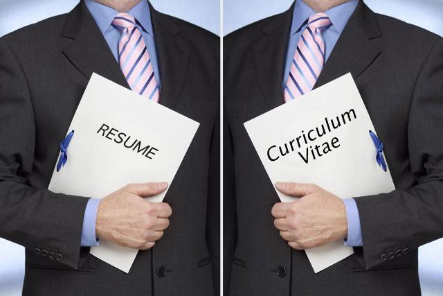What is the difference between Resume and Curriculum Vitae?